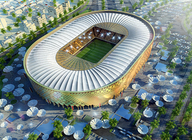 The Qatar University stadium is pictured in this artists impression as Qatar 2022 World Cup bid unveiled its stadiums on September 16, 2010 in Doha, Qatar.