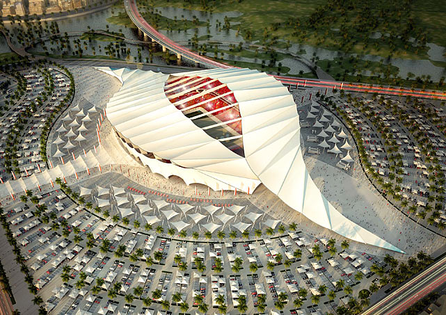 The Al-Khor stadium is pictured in this artists impression.