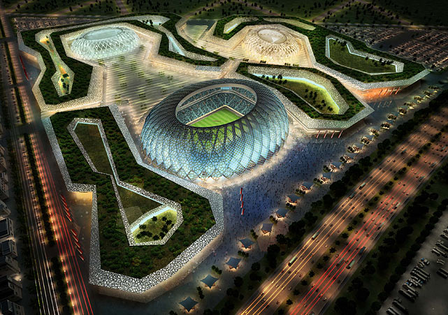 The Al-Wakrah stadium complex is pictured in this artists impression.