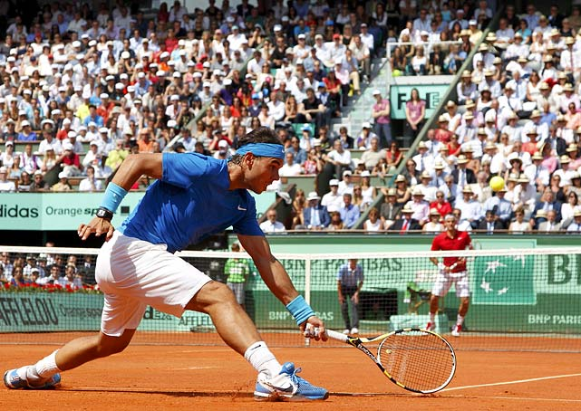 Nadal equaled Bjorn Borg's record of six titles at Roland Garros and earned his 10th career major championship. He improved his record at Roland Garros to 45-1, and to 17-8 against Federer. In Grand Slam finals, Nadal is 6-2 against his main rival.