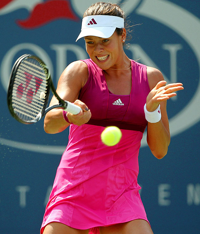 Unseeded at the U.S Open just two years after sitting atop the WTA rankings, Ana Ivanovic needed just 56 minutes in a dissection of  Zheng Jie at Arthur Ashe Stadium. Ivanovic, now ranked No. 40, hit 22 winners during the 6-3, 6-0 victory.