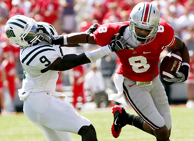 Forget about brotherly love. Wide receiver DeVier Posey and the Buckeyes dismantled Julian Posey and the Bobcats, as Ohio State improved to 41-0-1 against other Ohio colleges since a 1921 loss to Oberlin.