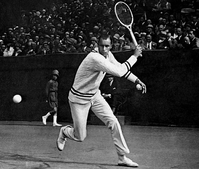 "Bill Tilden was the games best player during the 1920s, winning seven U.S. men's singles championships, three Wimbledon singles championships and two professional titles. ""Big Bill,"" who lost part of a finger in 1922, was known for his cannonball serve and leaves a legacy as one of the most cerebral players of all time."