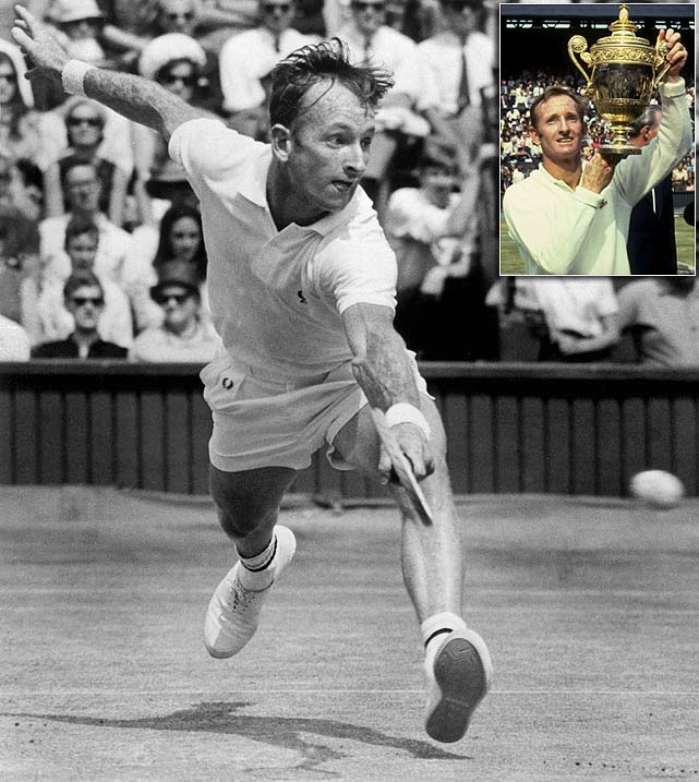 The Australian native ruled professional tennis during the '60s and is the only player to have twice won all four Grand Slam singles titles in the same year -- first as an amateur in 1962 and second as a professional in 1969. Rod Laver won 11 Slams total over the course of his 20-year career.
