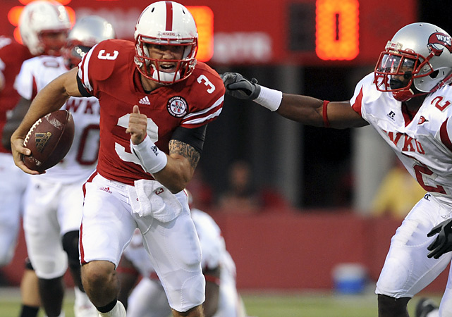 Nebraska coach Bo Pelini didn't want to disclose his starting quarterback before the game, but it looks like Taylor Martinez is the man for the job, rushing for 127 yards and three touchdowns and adding 126 yards through the air. The only redshirt or true freshman quarterback to start a season opener for Nebraska, Martinez became the first NU signal-caller since 2003 to run for more than 100 yards in a game.