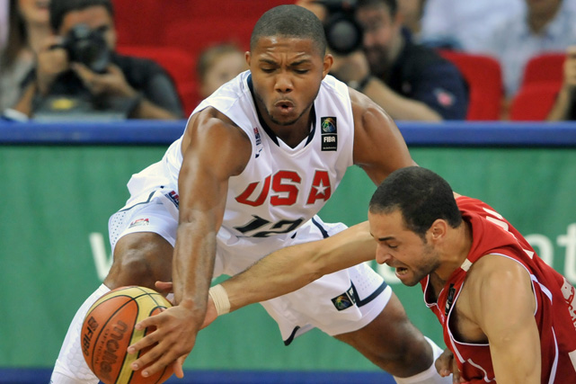 Thanks in large part to Eric Gordon, the U.S. capped a perfect preliminary record with a 38-point thrashing of Tunisia. Gordon finished with a game-high 21 points, 13 of which came in the second half.
