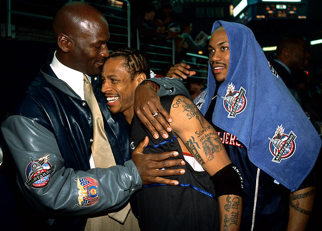 Following a stunning fourth quarter comeback led by Iverson, the East defeated the West 111-110 in the 2001 All-Star Game. Iverson was named MVP.