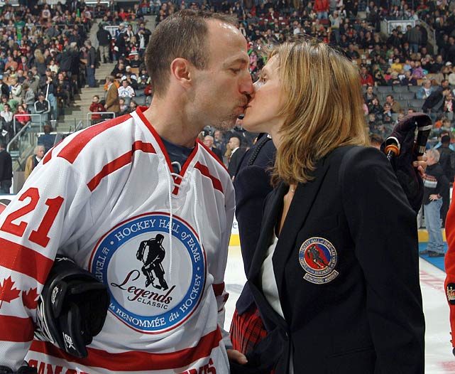 Granato led the US women's hockey team to the first ever Olympic gold in the event in 1998, as well as a silver medal in 2002, while Ferraro is an 18-year veteran of the NHL. Both are tough as nails, which has come in handy when raising their two boys, Reese and Riley.