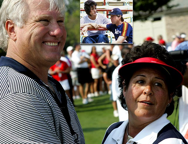 Nancy Lopez, a three-time major winner and one of the most popular LPGA players ever, and all-star third baseman Ray Knight, MVP of the New York Mets' 1986 World Series team, have been married since 1982 with three daughters.