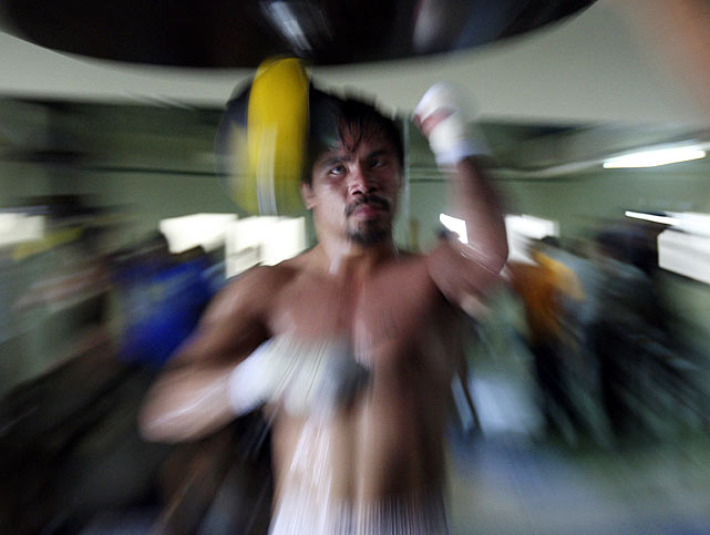Pacquiao's résumé includes victories over future Hall of Famers such as Oscar De La Hoya, Ricky Hatton, Marco Antonio Barrera, Erik Morales and Juan Manuel Marquez. With a dramatic 12th-round stoppage of Miguel Cotto in November 2009, Pacquiao captured the WBO welterweight title and became the first fighter to collect world championships in seven different weight classes, between 112 to 147 pounds.