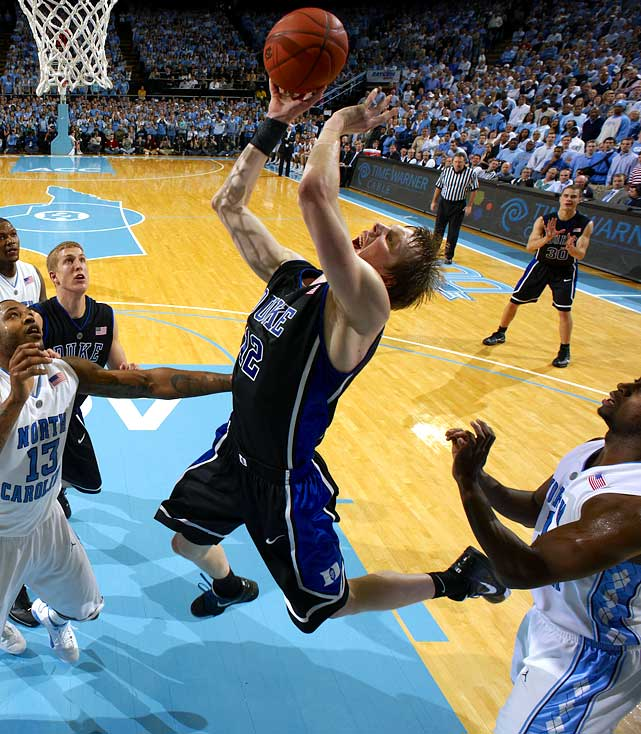 After winning the NCAA tournament's Most Outstanding Player award in April, Singler returns to lead a Duke team that enters the season as a favorite to repeat. He'll look to improve on a campaign in which he averaged 17.7 points and 7.0 rebounds per game, posing a scoring option both under the basket and with his mid-range jump shot. He's also a potent three-point threat, shooting 39.9 percent from behind the arc in 2009-10.