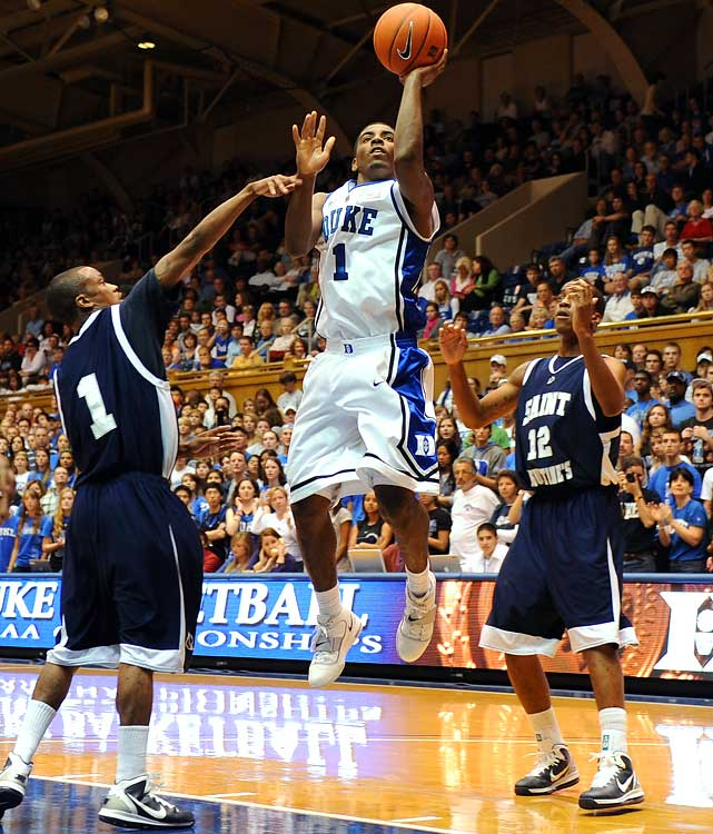 Hyped as a natural playmaker, Irving should ignite the Blue Devils' offense in his highly anticipated freshman debut. His remarkable ball-handling ability and precision passing made him one of the nation's most coveted recruits, and the combination of Irving and Smith in the backcourt is a big reason why Duke tops the AP poll entering the season.