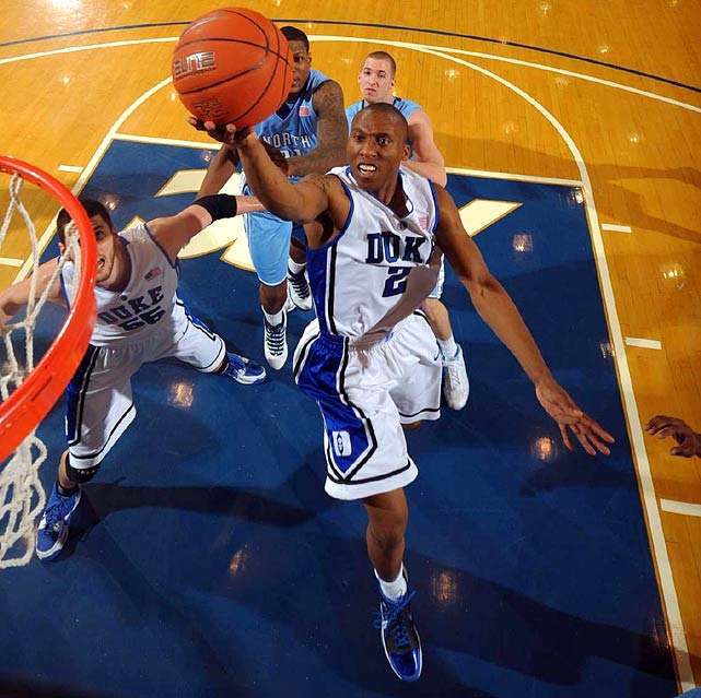 The Blue Devils lost Jon Scheyer, the point guard who led their national-title team in scoring and had a 3-to-1 assist-to-turnover ratio ... and their backcourt might actually be better in '10-11. Irving is a freshman floor general who plays well beyond his years; Curry, who transferred from Liberty and sat out last season, is a lethal outside shooter; and Smith (pictured), a senior who passed on the NBA Draft, is a star in his own right who looked phenomenal in this past summer-camp circuit.