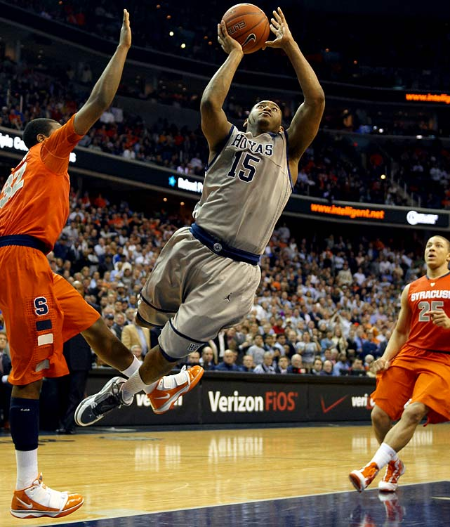 Freeman (pictured), a 6-foot-3 senior, averaged 16.5 points last year while shooting 44.4 percent on threes, and is the Hoyas' most viable All-America candidate. They're transitioning to a guard-dominated offense now that Greg Monroe has moved on to the NBA, and that should mean more looks for Freeman and point guard Chris Wright, whose scoring tends to be a bellwether for Georgetown's success. Clark quietly had an excellent sophomore season, shooting 42.4 percent from long range and averaging 10.4 points.
