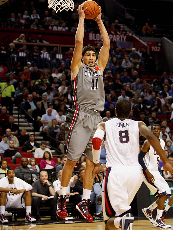 Kanter (pictured) has yet to be cleared by the NCAA, which is investigating allegations that he was paid a salary by a Turkish pro team two seasons ago. If allowed to play, though, the 6-foot-11 Turk should be among the college game's best big men. He's already honed his skills against senior Euroleague competition and will have little trouble dominating in the NCAA. Jones, the other five-star forward to commit to UK from the Class of 2010, is a Lamar Odom-like talent who'll be a major matchup problem on the perimeter for opposing fours.