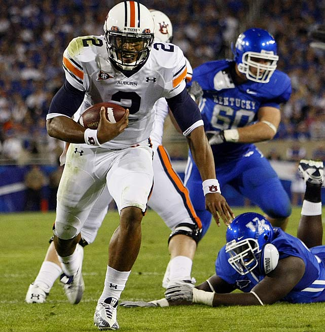 Last Week : 13-of-21 passing for 210 yards and one INT; 28 rushes for 198 yards and four TDs in 37-34 win over Kentucky   Season : 70-of-108 passing for 1,138 yards, 12 TDs and five INTs; 104 rushes for 672 yards and nine TDs  Some call him the Denard Robinson of the South, though if last week was any indication, we may end up calling Robinson the Newton of the North before the season is up. The SEC's leader in rushing yards and total offense ran for four first-half touchdowns to help the Tigers reach 6-0 for the first time since '04. He's emerged as the conference's leading Heisman candidate and could further distance himself from  Ryan Mallett  in their showdown at Jordan-Hare Stadium this week.   Up Next : Saturday vs. No. 12 Arkansas