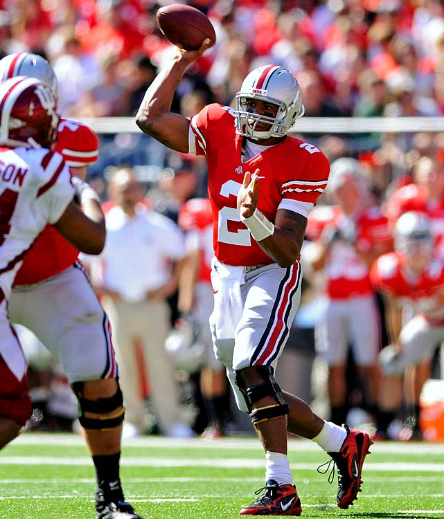 Last Week : 24-of-30 passing for 334 yards and three TDs; three rushes for minus-19 yards in 38-10 win over Indiana   Season : 104-of-153 passing for 15 TDs and three INTs; 57 rushes for 354 yards and three TDs; 2 receptions for 19 yards and one TD  Pryor did rebound from his worst passing game of the year by throwing for a career-high 334 yards, but then again it was against an Indiana defense that's giving up 413.4 yards per game. And while he didn't show any lingering effects from the quadriceps injury he suffered the week before, he also didn't take off on any designed runs. All in all though, it was a nice tune up to what will be the biggest test yet of Pryor's maturity.   Up Next : Saturday at No. 18 Wisconsin