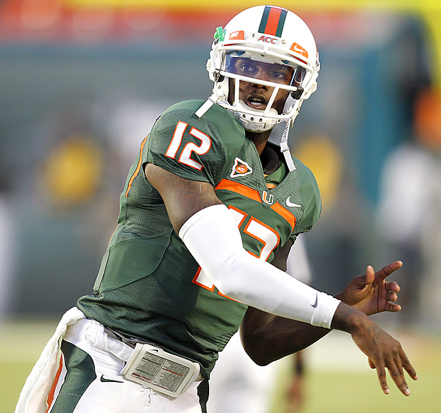 What looked like a preview of the ACC title game in July was nothing more than another notch on Miami's conference belt. Led by QB Jacory Harris (217 passing yards, 3 TDs), the Hurricanes (5-2, 3-1) amassed 442 yards against the depleted Tar Heels defense.