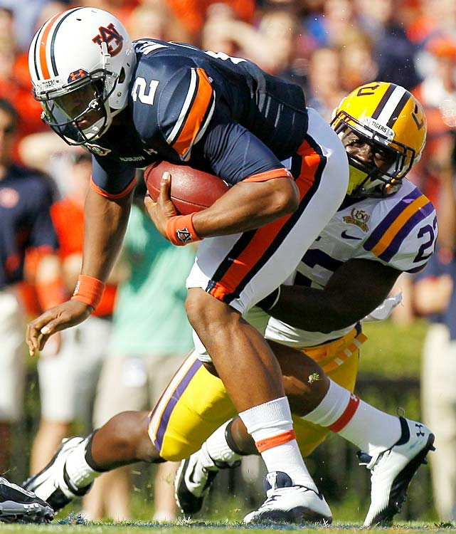 The Cam Newton show continues. LSU had no answer for Auburn's star quarterback, who ran for a career-high 217 yards and two touchdowns. Newton wasn't alone, though. An LSU defense that entered the game ranked sixth nationally against the run surrendered 440 rushing yards to a relentless Auburn attack.