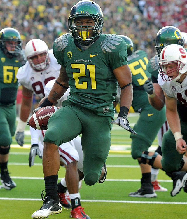 East Coast voters, take notice: The Heisman candidacy for RB LaMichael James (257 rushing yards, 3 TDs) is as real as the Ducks' pursuit of the Pac-10 crown and a spot in the BCS title game. If anything, 5-0 Oregon has proven to be the nation's best team in the second half, thanks to megatalents like James.