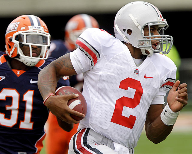 The Buckeyes received a scare when Terrelle Pryor briefly left the game with a leg injury in the third quarter, but the Heisman hopeful returned in time to lead Ohio State on a touchdown drive in the final minutes to put away an Illinois squad that had kept it close all day.