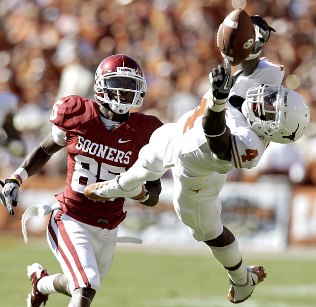 For three quarters, Oklahoma controlled the Red River Rivalry. Then the fourth quarter came. The Sooners allowed the Longhorns to score 10 straight points, then nearly saw quarterback Landry Jones fumble away the game. Oklahoma punted to Texas with 62 seconds remaining, but Aaron Williams dropped the ball, the Sooners recovered and bled out the clock to hand Texas its second straight loss.