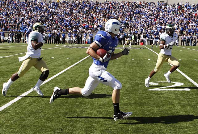 Who needs field goals? Air Force put on a touchdown show against Colorado State, scoring once on a kickoff return, three times on the ground and three times through the air -- including on a fake field goal in the third quarter.