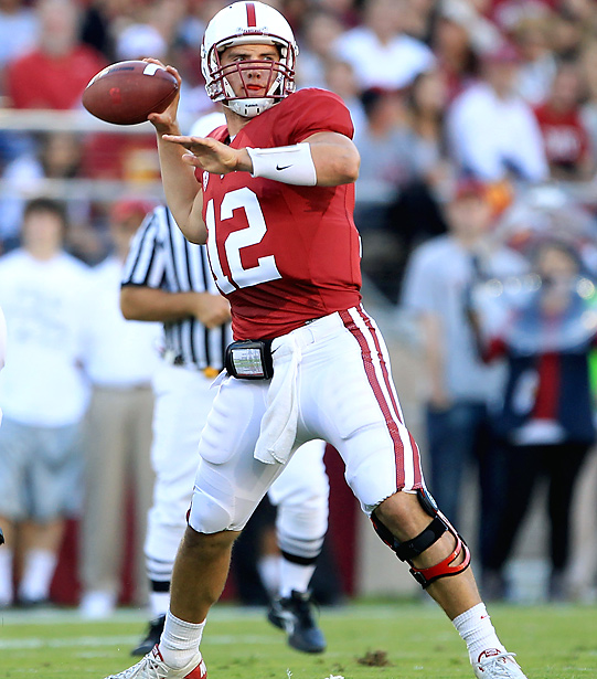Stanford QB Oliver Luck was a model of efficiency in Saturday's thriller, completing 20 of 24 passes for 285 yards and three touchdowns. The Cardinal, which would have essentially fallen three games behind Oregon with a loss, are still in the hunt for the Pac-10 title.
