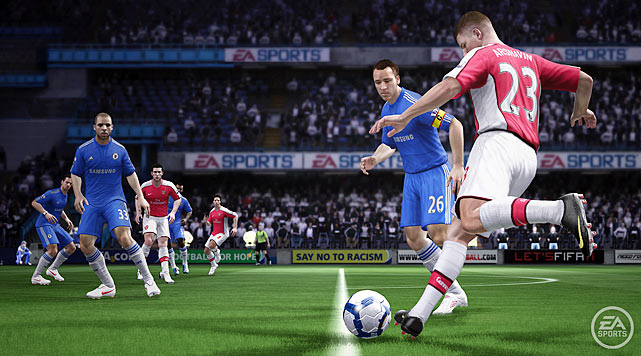 Fans of footie will tell you that the Beautiful Game is the ultimate team sport. Now EA challenges gamers to prove it online, where you can play full 11-on-11 matches -- goalie included. Hardcore soccer nuts will love the new Personality  feature, which captures soccer's biggest stars acting like the real thing all over the field, from running to shooting to diving. The Pro Passing System ups the re-playability of FIFA 11 by demanding a refined sense of the control pad. Even if you wipe away all the new feature upgrades, the action on the field looks smoother than ever, including another year with the 360 degree Fight for Possession feature that accurately portrays jostling for loose balls and fights for header position.  Score: 8.5/10