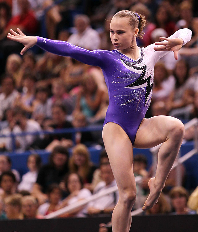 Bross hopes lightning strikes twice this year. She won the U.S. all-around championship for the first time in August after finishing third and second, respectively, behind Sloan at nationals and worlds a year ago. She's the best U.S. gymnast who didn't compete in Beijing.