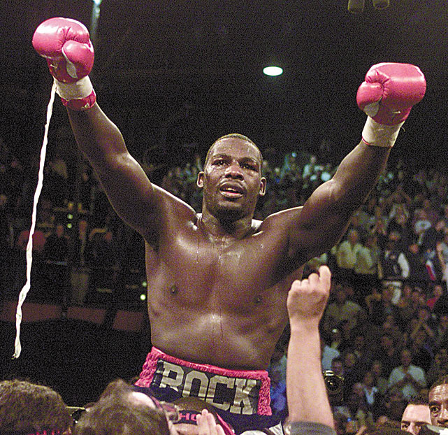 The Baltimore native was a 15-to-1 underdog when he stunned the sports world with a fifth-round knockout of Lennox Lewis to become the undisputed heavyweight champion.