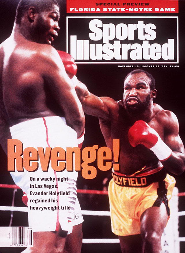 """Holyfield regained the title from Riddick Bowe in the middle bout of their legendary '90s trilogy -- the notorious """"Fan Man"""" fight."""