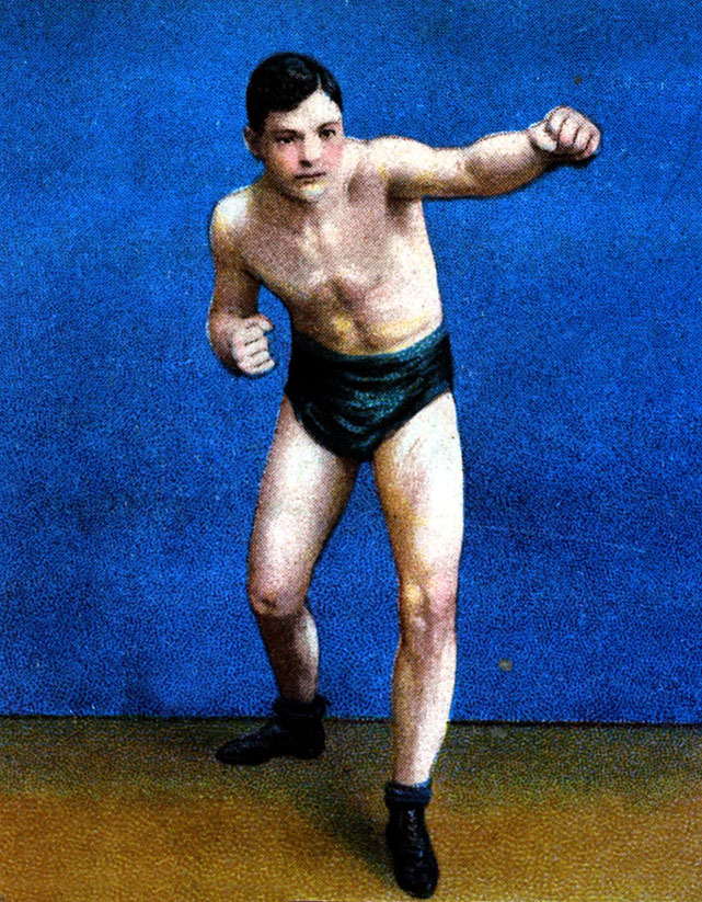 """Hart knocked out Jack Root for the title in a fight refereed by retired champ James J. Jeffries. Jeffries """"awarded"""" the title to Hart after the match."""