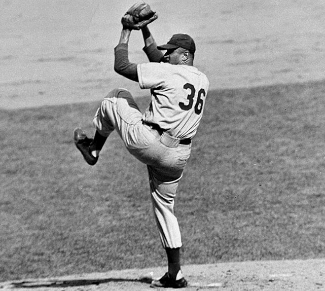 Oct 5 1949 - WS Game 1  Line: 8.0 IP, 5 H, 1 ER,  0 BB, 11 K  Game 1 of the 1949 World Series was a game of many firsts for Don Newcombe.  It was Newcombe's postseason debut, and the first time a black pitcher started a World Series game.  Unaffected by the enormity of the situation, Newcombe was flawless almost all game.  He struck out 11, and the only mistake he made was a fat fastball to Yankee Tommy Henrich, who lifted the pitch over the rightfield fence.