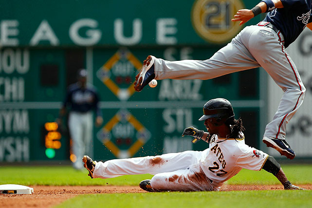 McCutchen's explosive speed makes him a threat to swipe a bag every time he reaches base.  Through his first two years in the majors, he's raced for 55 steals, a total that ranks sixth in the National League over that span.