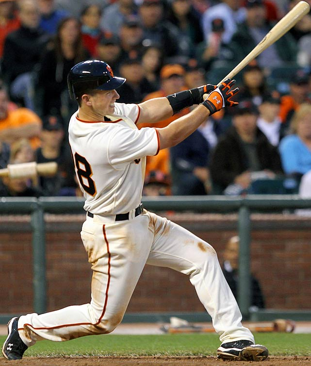 The Giants' 12-1 drubbing of Atlanta on May 29 will best be remembered for a 3-for-4 effort from Buster Posey in his highly-anticipated major league debut.  The hits would keep on coming from the youngster, as he finished the season with a .305 average, 18 home runs and 67 RBIs, generating plenty of Rookie of the Year hype.