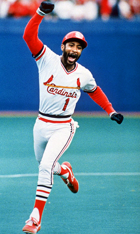 "When Ozzie Smith settled into the batter's box in Game 5 of the 1985 NLCS, the switch-hitting shortstop had never hit a home run from the left side of the plate.  That all changed when ""The Wizard"" drove Dodgers' pitcher Tom Niedenfuer's offering just over the right field wall in the bottom of the 9th, earning the Cardinals a dramatic 3-2 win.  Even legendary announcer Jack Buck couldn't contain his excitement, coining the phrase ""Go crazy, folks.  Go crazy."""