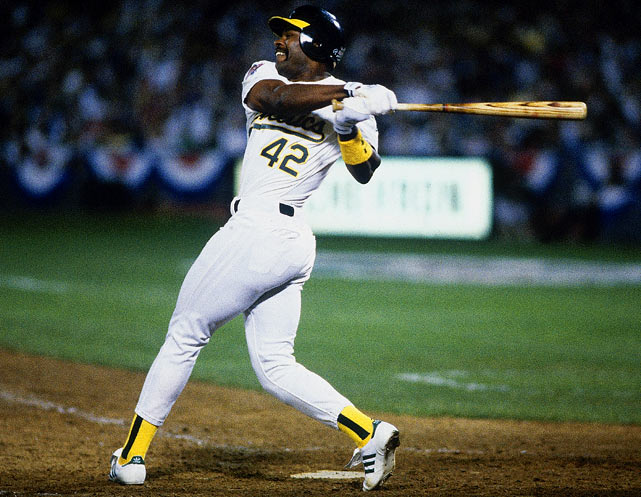 Postponed by 10 days because of the famous Loma Prieta earthquake, Game 3 of the 1989 World Series took place with the A's leading the Giants two games to none.  Oakland would expand its lead behind the strength of Dave Henderson, who smashed two home runs, a double and added four RBIs in a 13-7 victory.  Hendu, who hit .308 for the series, chipped in a hit and two runs in the A's Game 4 triumph as well, completing the sweep of their in-state rivals and winning their first Series in 15 years.