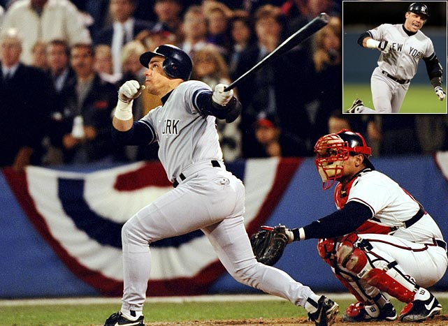 Jim Leyritz's Game 4 at-bat proved to be the turning point in the 1996 World Series.  He faced Mark Wohlers in the top of the eighth, with two men on and the Yankees trailing 6-3.  New York had chipped away at 6-0 deficit earlier in the game, but was down to its final five outs as Leyritz settled into the batter's box. He popped a 2-2 offering from Atlanta closer Mark Wohlers over the left-field fence, silencing the Atlanta crowd and tying the game.  The Yankees won in extra innings before edging the Braves for one-run victories in Games 5 and 6 to win their first World Series in 18 years.