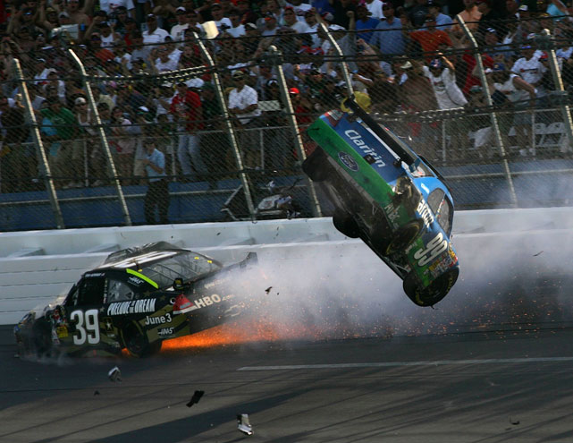 Seven fans were injured as a result of the final-lap crash and tensions have run high between Edwards and Keselowski ever since.