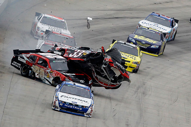During the 5-Hour Energy 200 at Dover International Speedway, Joey Logano tagged the wall on the last lap, sending his No. 20 Toyota into the path of an oncoming Clint Bowyer. The wreck knocked Bowyer out of contention and caught up several other cars in the field. Carl Edwards went on to take the Dover checkers for his third Nationwide win of the year.