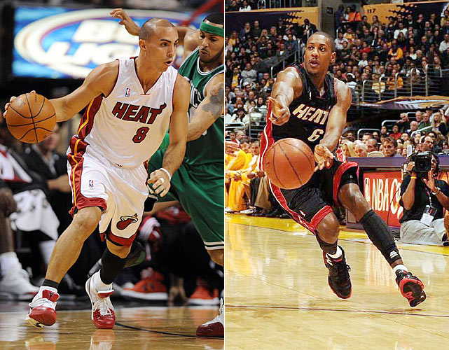 The 2010-11 season is just weeks away, but many teams have yet to firm up their starting lineups. The most notable, of course, is the point guard slot in Miami. Coach Erik Spoelstra has said LeBron James may get minutes at the 1, but the true starting role will be decided between Carlos Arroyo and Mario Chalmers.