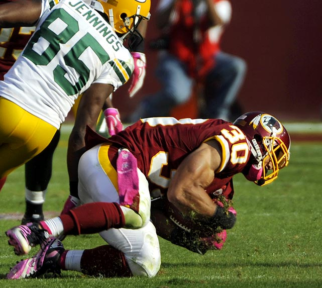 A switch to the 3-4 in Washington has helped LaRon Landry evolve into one of the premier safeties in the league.  Ironically, before the season many would have deemed Landry, who was extremely inconsistent, overpaid. But as Landry proved with his performance against the Green Bay Packers (13 tackles, one interception, one forced fumble), he's not only worth every penny; he's severely underpaid.