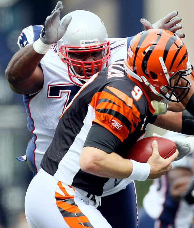 Quick off the snap and constantly demanding double teams, Vince Wilfork is arguably the MVP of a Patriots run defense that has been top 10 in 2010.  Like Tom Brady, Wilfork got his extension, and he'll officially be kicked off the All-Value team in 2012, when he's scheduled to earn $4.5 million.