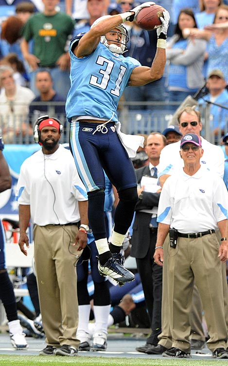 The Titans lead the NFL with 12 interceptions through Week 7, but only one has been returned for a touchdown.  That was by Cortland Finnegan, who took a Kevin Kolb pass to the end zone as time expired in Tennessee's 39-17 win over Philadelphia.
