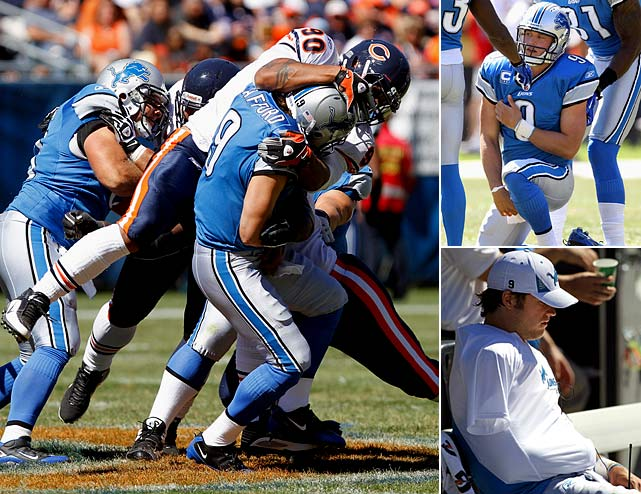 The No. 1 overall pick in 2009, Matthew Stafford entered 2010 determined to reverse the Lions' losing ways, as the team had won just two games over the previous two seasons.  He got off to a quick start, carrying Detroit to an early lead at Chicago before being sidelined at the end of the second quarter with a shoulder injury.  Detroit limped to a 1-5 record without him and went 1-1 upon his return. Unfortunately, he reinjured the shoulder in a Week 9 loss to the Jets.