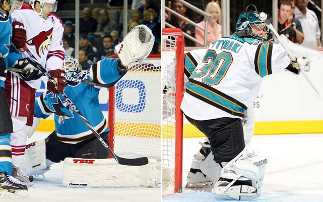 The Sharks have added two Finns of distinction: Niemi won the Stanley Cup with the Blackhawks. Niittymaki, who won 21 games in Tampa Bay last season, has a Bronze medal on his resume from the 2006 Olympic Games. This is as proven an even split-time tandem as you will find.    Click HERE  for Darren's take on the goaltending trend in the NHL.