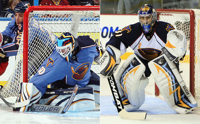 For the first time in franchise history, the Thrashers have a proven 30-game winner in Mason, who is able to play over 60 games in a season. Backup Pavelec is a hungry twenty-something with some experience and more to prove. Both netminders are big-body shot blockers.    Click HERE  for Darren's take on the goaltending trend in the NHL.