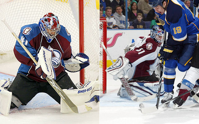 Anderson was the first half story of the year in goal for the Avs last season, leaving little room for Budaj to get time in goal. Now, can Anderson follow up his stellar performance and will coach Joe Sacco find a way to get Budaj some games to keep Anderson from withering?    Click HERE  for Darren's take on the goaltending trend in the NHL.