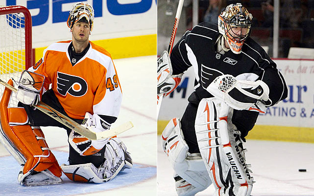 What do you say and who do you say it about when looking at the Flyers' goaltending? After going to the Stanley Cup Final, Leighton, who will miss the start of the season due to back problems, deserved a new contract. The equally streaky Boucher was already signed. Still, how can a team that's so well-built and competitive year after year seemingly leave goaltending as an afterthought every single season?    Click HERE  for Darren's take on the goaltending trend in the NHL.